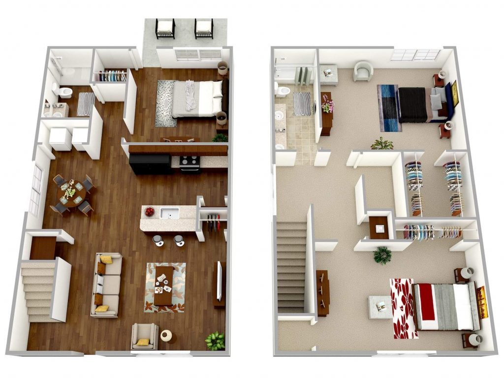 Floor Plans at the Cottages at Town Center